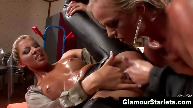 Porno Video of Classy Glamour Satin Lesbians Finger Action