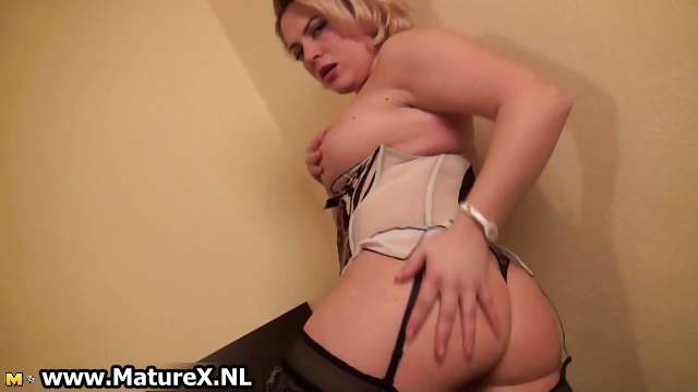 Porno Video of Horny Busty Mature Woman Stripping Part5