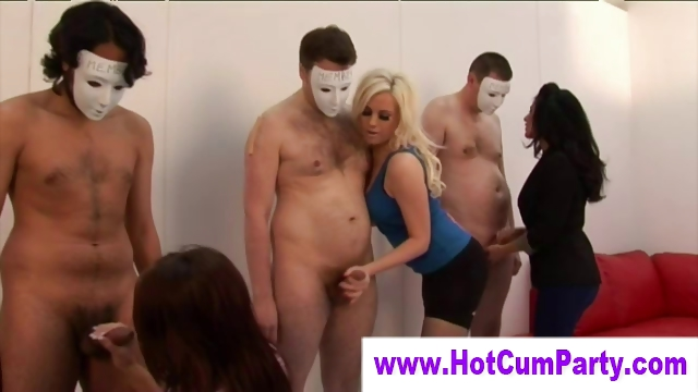 Porn Tube of Cfnm Group British Girls Handjobs And Cumshots