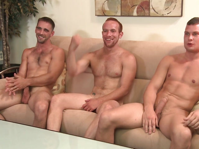 Porno Video of 2 Str8 Guys And A Gay Guy, But No Girl Shows Up For The Orgy.