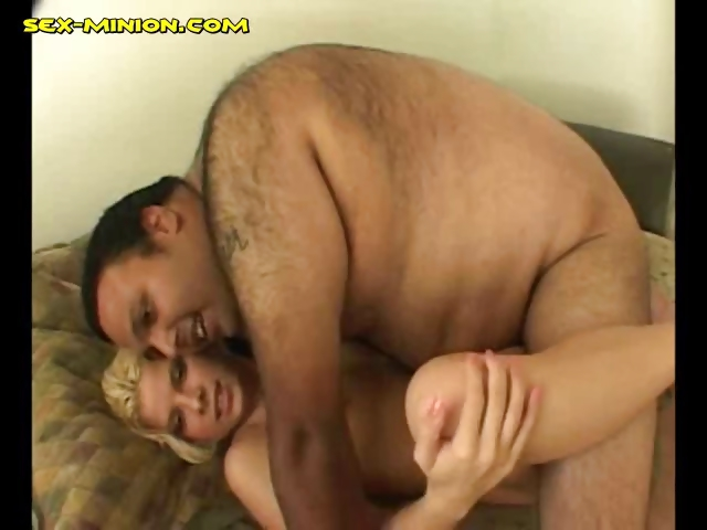 Porn Tube of Blonde Fucked By A Fat Man