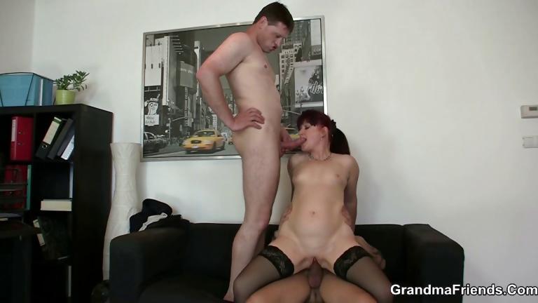Porno Video of Cocksucking Mature Lady Riding Cock