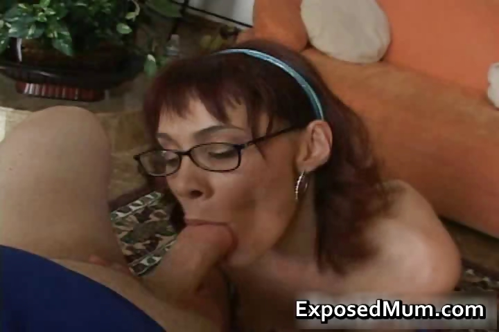 Porn Tube of Redhead Mom Licking Balls And Deepthroat Part2