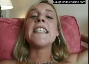Porn Tube of Young Girl Monsterfucked In Her Mouth And Pussy