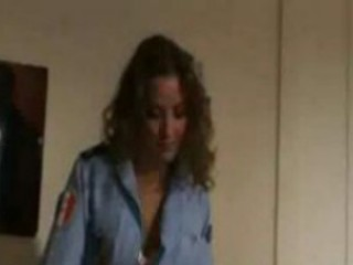 2 French Police Woman Play In Changeroom