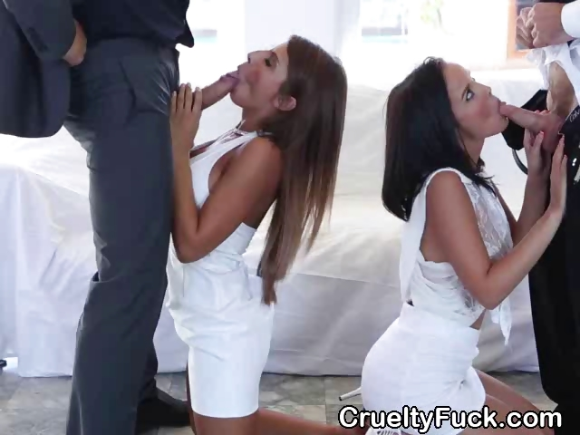 Big Titty Foursome For 2 Hot Sluts