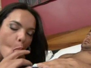 Stunning Shemale Kalena Tricks Guy Into Letting Her Suck His Nuts And Fucking Her