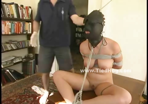 Porno Video of Gorgeous Woman With A Hoodie Gets Her Nipples Clamped While Tied Up And Teased By Dominating Lover