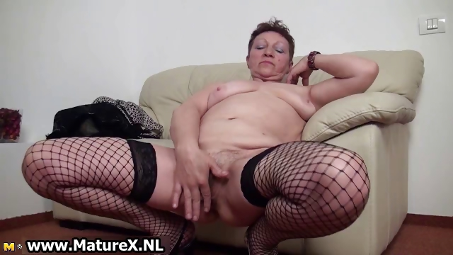 Porn Tube of Old Busty Housewife Spreading Legs Part2