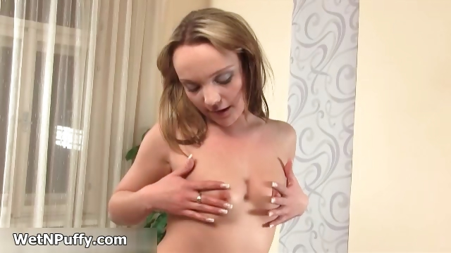 Porn Tube of Sexy Blonde Babe Getting Horny Stripping Part4