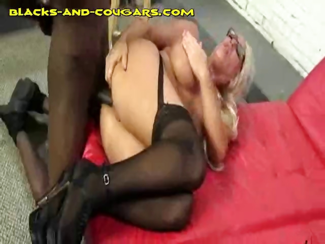 Porno Video of Big Titted Cougar Gets Black Anal