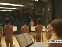 Нудистские японские av звезды в голышом оркестра