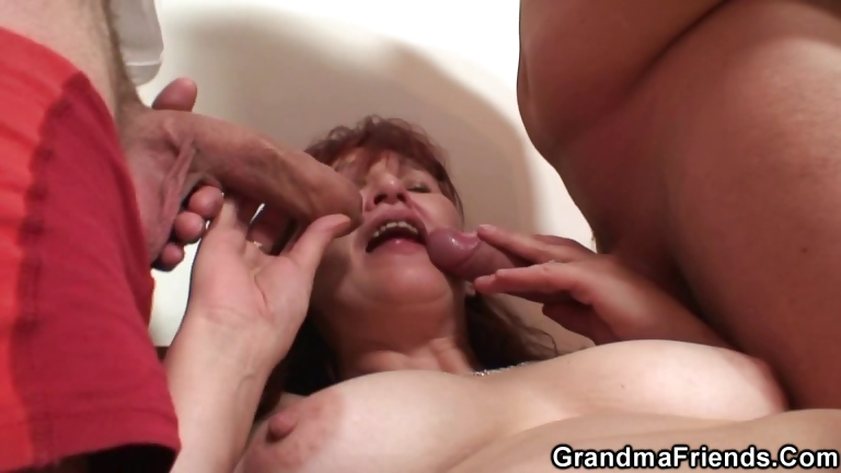 Porno Video of Poker Playing Granny Is Fucked By Two Guys
