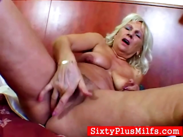 Porno Video of Granny Maris Fingering Her Old Cunt