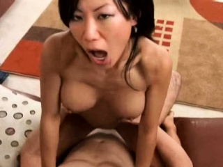 Lusty mature beauty Tia Ling with great tits gets dong
