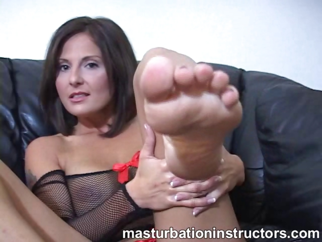 Porn Tube of Jerky Teacher Puts Her Feet Up And Demos Footjob Skills