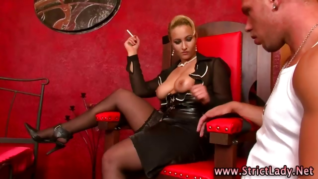 Porno Video of Smoking Blonde Femdom