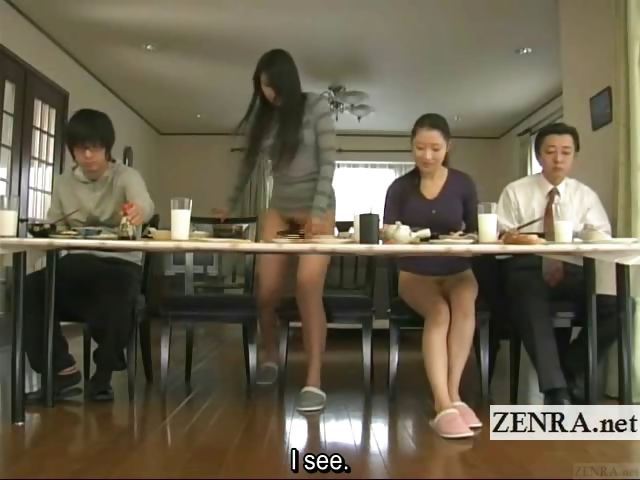 Porn Tube of Subtitled Bizarre Japanese Bottomless No Panties Family