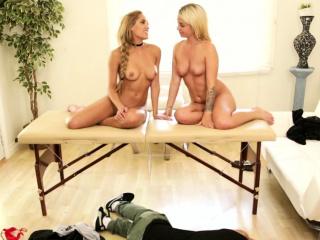 Две делают массаж простаты парню порно смотреть порно