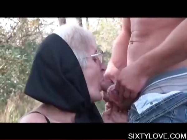 Porn Tube of Mature Lover Taking Young Dick On Knees