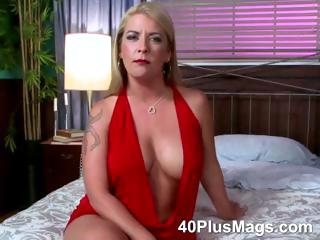 beautiful blonde mature with nice firm tits