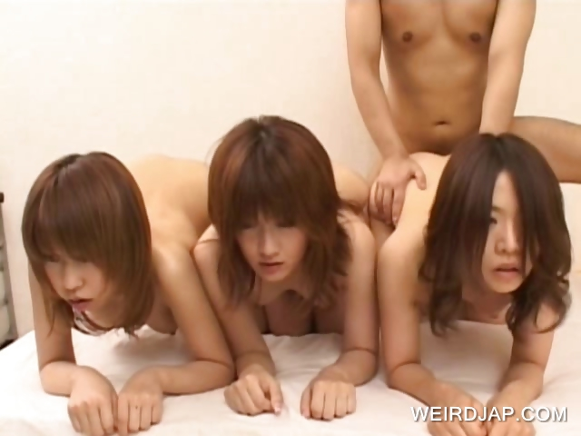 Sex Movie of Asian Teens Fucked Doggie In A Row