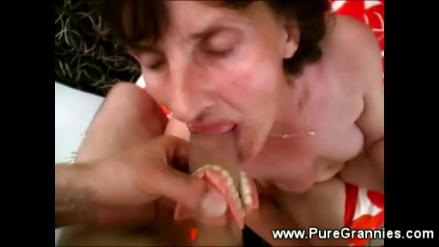 Sex Movie of Granny N Denture Blowjob