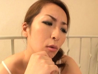 Smoking sexy fetish sex with a older japanese wench