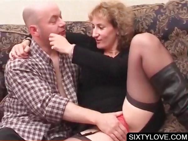 Porn Tube of Blonde Mature Gets Cunt Teased