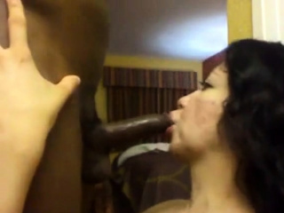 Latina swallowing BBC cum