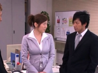 Hot office oriental playgirl likes playing perverted at work