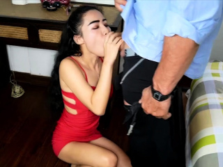 Tiny and petite Thai wife cheating on her poor husband