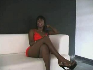 Ebony Tranny Smashed By White Dicks