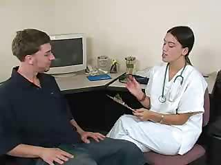 Porn Tube of Nurse Gives An Oily Handjob