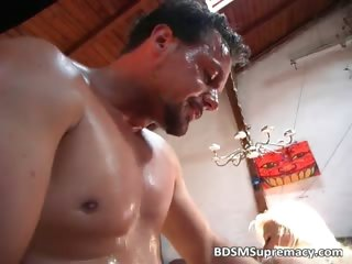 BDSM group sex with hot candle was part6