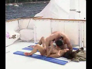 Sex Movie of European Brunette In Her New Boat