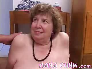 Porno Video of Lusty Grandma Sucks Cock