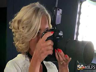 Porn Tube of Hot Blonde Granny Cougar Katia