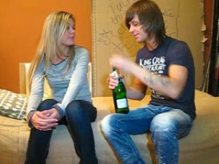 Porno Video of Champagne & Cum