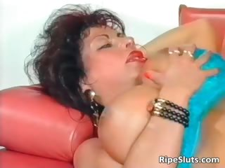 Gorgeous mega boobed mature slut gets part4