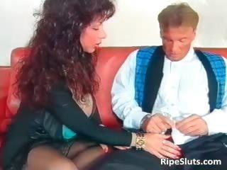 Gorgeous mega boobed mature slut gets part4