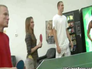 Porn Tube of College Stud Plays Ping Pong With His Dick