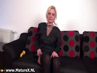 Hot blond mature woman stripping part5