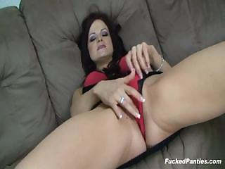 Porno Video of Brunette Janessa Fucked In Her Sweet Red Panties
