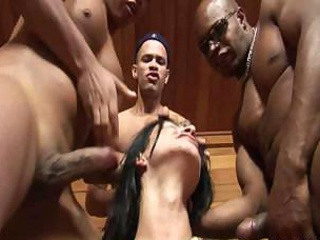 Bondage gangbang for Barbara Vasconcellos
