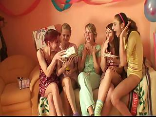 Porn Tube of Blonde Agnes Has Great Fun At Party