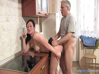 Porno Video of Mature Couple Prepare Dinner In The Kitchen