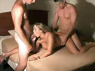 Porn Tube of Big Tits Blonde Wife Takes Two Men In Hotel