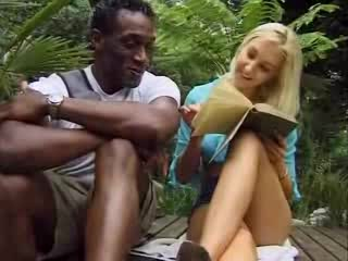 Porno Video of Blonde Babe Feels A Thick Black Dong