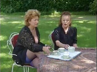 Porn Tube of Two Grannies Take Tea And Cock